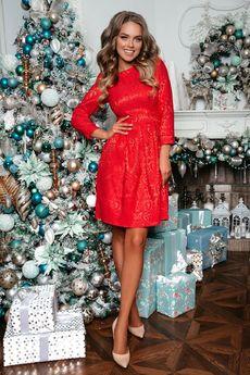 Нарядное красное платье Open-Style