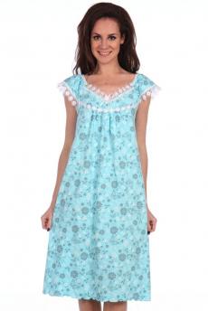 Свободная голубая ночная сорочка Modellini