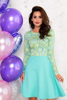 Платье цвета аквамарин Open-Style